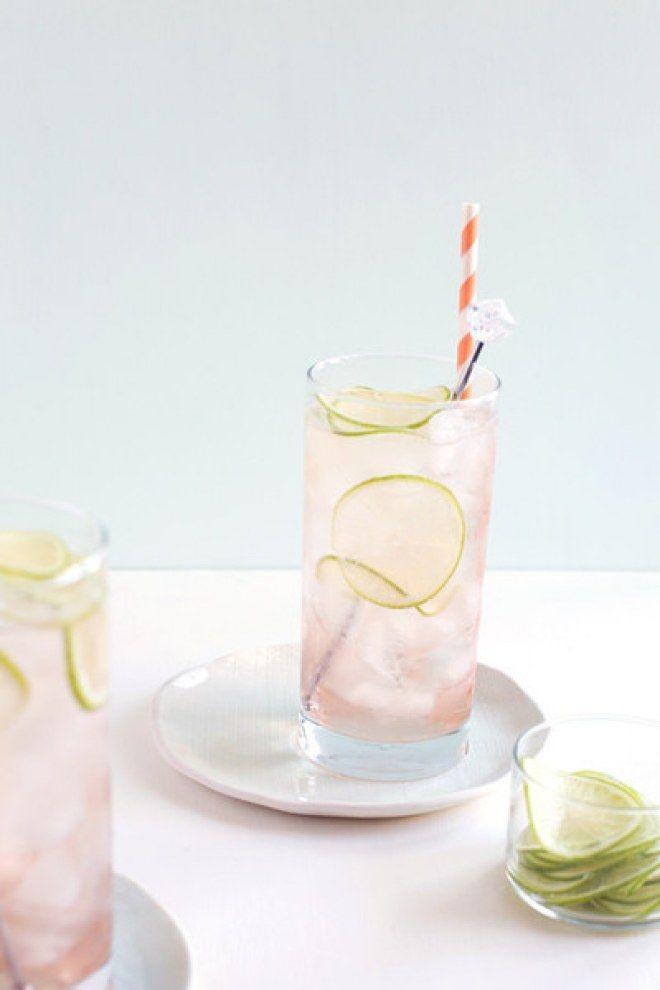 Receitas de drinques cor-de-rosa, Lime Rosé Spritzer