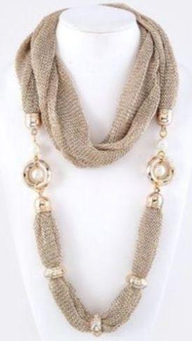 Ожерелье из шарфов и косынок: модно и стильно. Обсуждение на LiveInternet - Российский Сервис Онлайн-Дневников