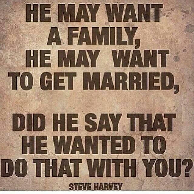 Steve harvey on dating a married man