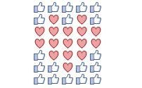 Emoticon icon art for Facebook comments (Emoji icon patterns)