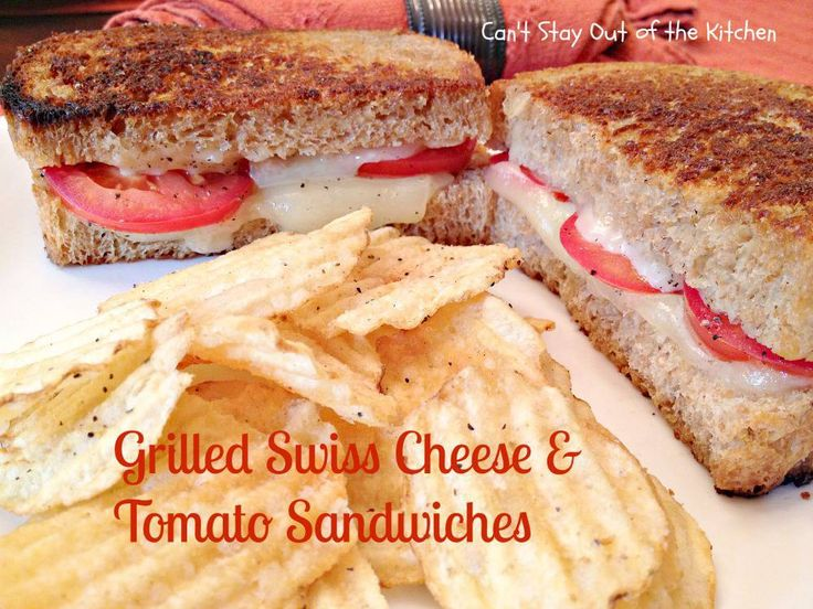 Grilled Swiss Cheese and Tomato Sandwiches