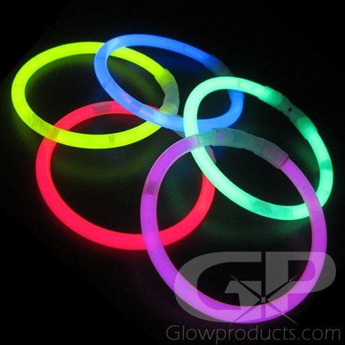 8 Inch Glow Bracelets - Bulk Glowing Bracelets | Glowproducts.com 100/$14.00 Orange and yellow