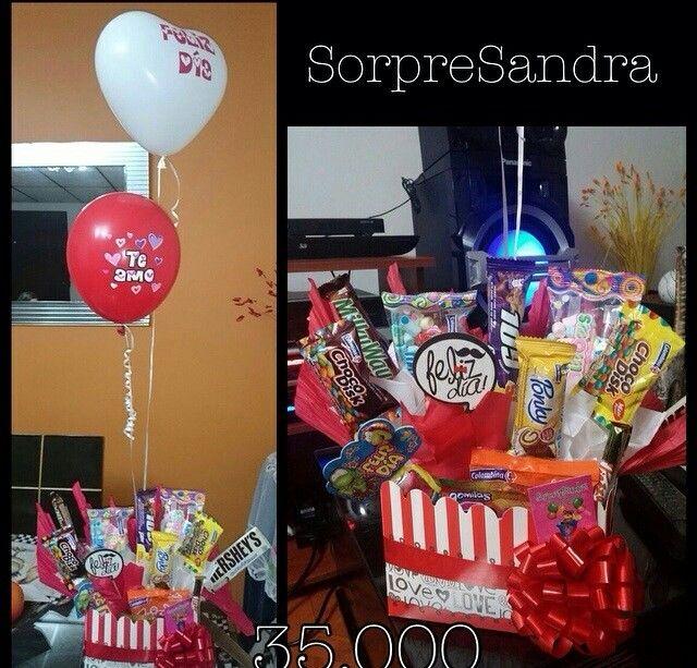 Globos, dulces, amor,cumpleaños,detalles,ancheta,chocolatas.