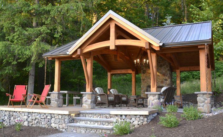 8 best timber frame pavilion plans images on pinterest for Pavillion house plans