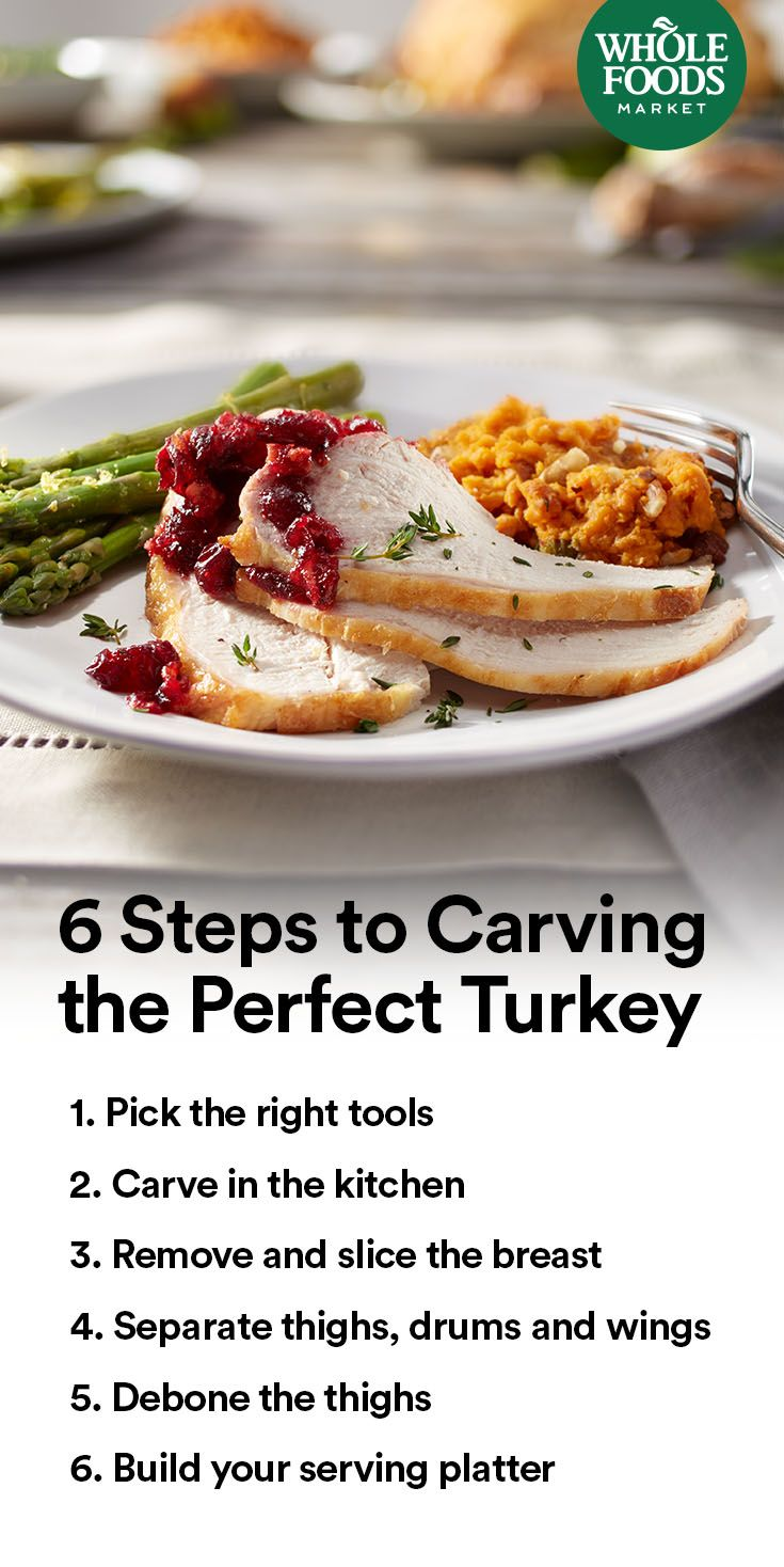 How To Carve A Turkey A Step By Step Guide Whole Food Recipes Holiday Cooking Thanksgiving Dinner