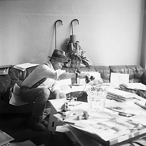 joseph beuys in his atelier
