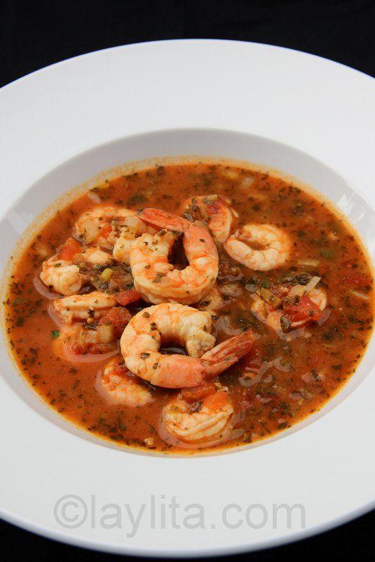 Sopa de camarones