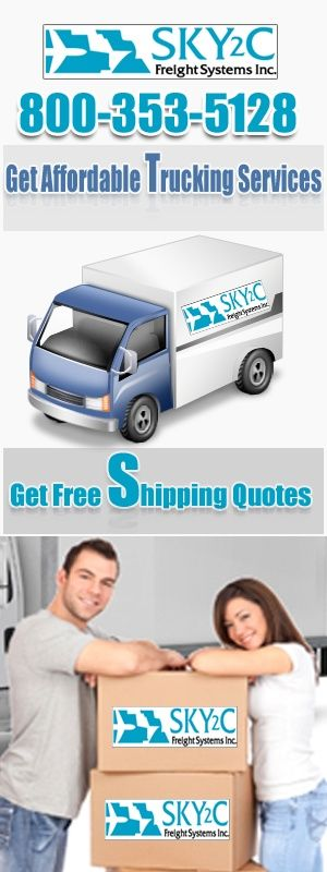 Container Shipping via Sky2c Freight Systems Inc Call 800-353-5128