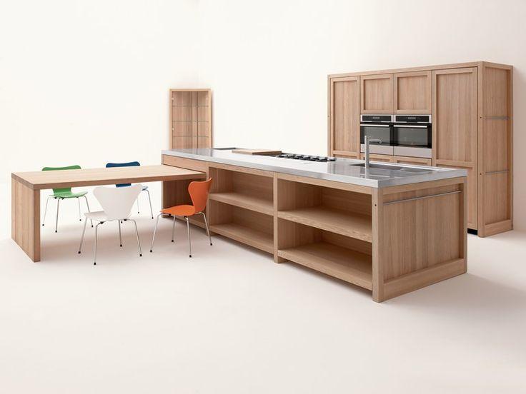 Cucina in rovere con isola LEGNO VIVO by GD Arredamenti design Roberto Pezzetta