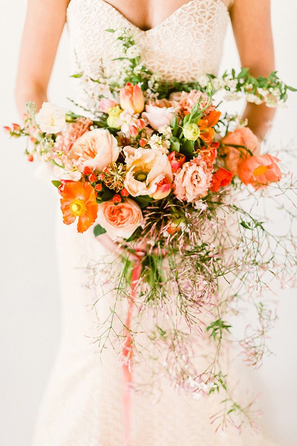 Best 25 Orange Wedding Bouquets Ideas On Pinterest