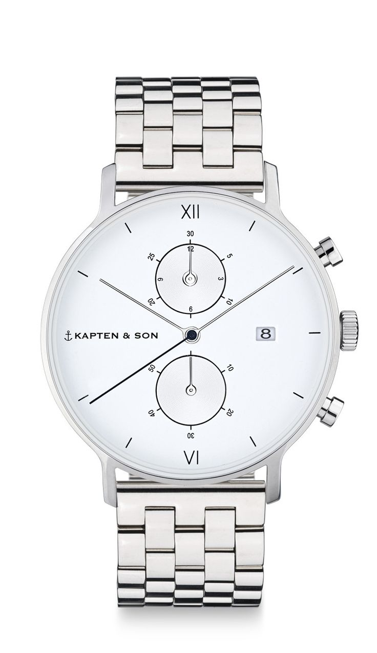 """The watch for men: Chronograph Silver """"Steel"""" 