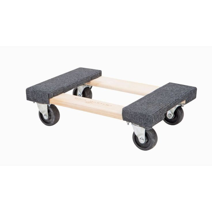 1000 lb Capacity Mover's Moving Furniture Dolly Hardwood Swivel Casters 12
