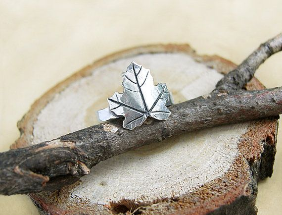 Canadian maple leaf sterling silver ring by AnastasiaSobkevich