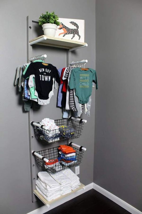20 Genius Ways To Baby Closet Organizer Without Closet Baby