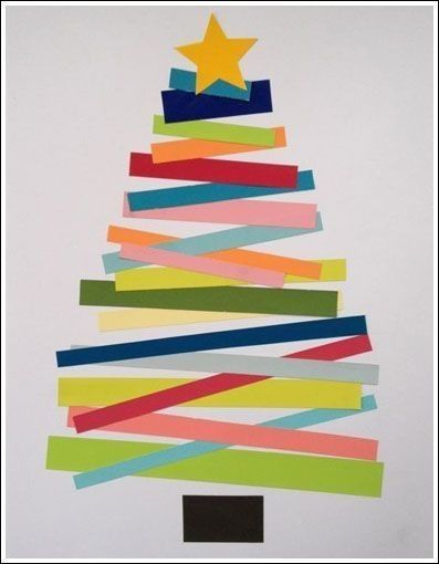 DIY Construction Paper Christmas Tree - I think Ava would like this