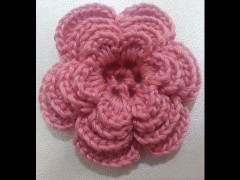 Patrones crochet de sombrero y aplique de flores - paso a paso | Crochet y Dos agujas - Patrones de tejido