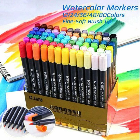 Sta 12 24 36 48 80colors Set Water Based Ink Sketch Marker Pens