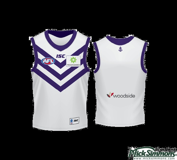 White Fremantle jersey