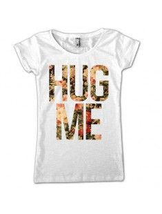 #hug #me #flower #print #tshirt #girl #fashion