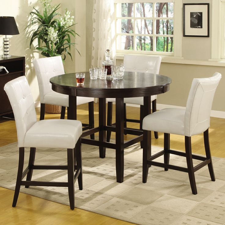 Round Counter Height Dining Table Dark