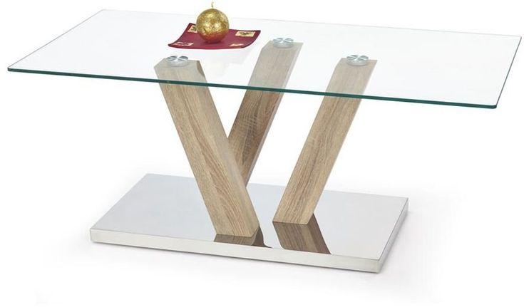 Sariyah soffbord - Ek/glas - 995 kr - Trendrum.se