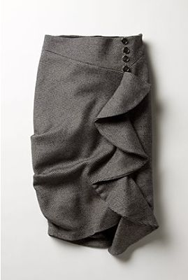 I mentioned in my blog entry on creating a cascading ruffle  that Rachel was coveting a certain Anthropologie skirt, but at $158, her pocket...
