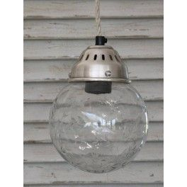 Chic Antique Taklampe - Glass Ball