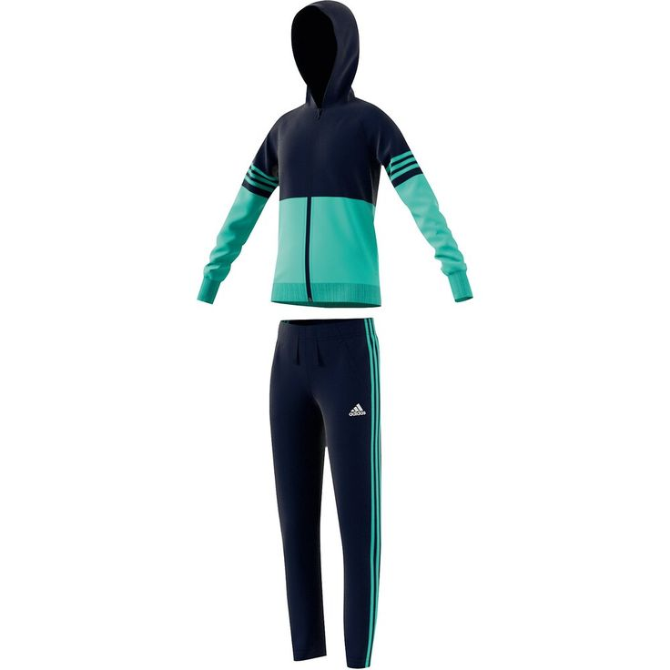 adidas performance trainingsanzug in türkis nachtblau