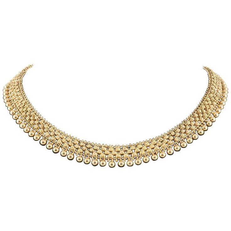 Victorian 18 Carat Gold Collar Necklace, English, circa 1870