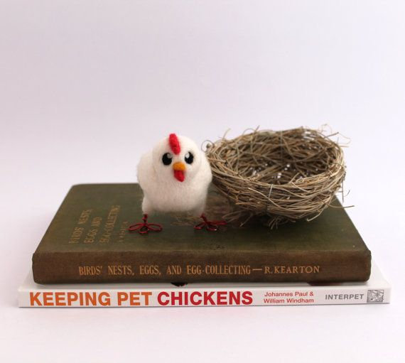 Needle Felted Chicken Farmyard Bird