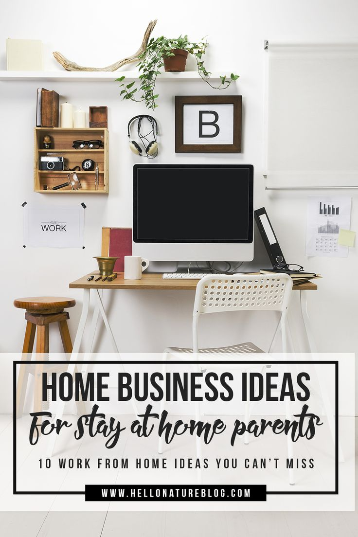 Are you a stay at home mom or dad looking for work from home ideas? You won't want to miss this list of ten home business ideas!