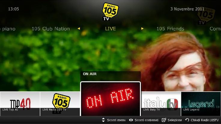 """vetrya :: Radio105 su smart tv Samsung     Puoi scegliere tra:  - Top 40, con i video non stop direttamente dalle classifiche italiane, europee e Usa;   - Legend Tv, con i video culto dei grandi miti della musica pop, rock, soul e reggae,  - Italy Tv, con tutti gli interpreti e i cantautori italiani di ieri e di oggi  - """"IT Parade"""" con la classifica dei più venduti della settimana.    Radio 105 sulla tua tv semplicemente scaricando l'applicazione da Smart tv!"""