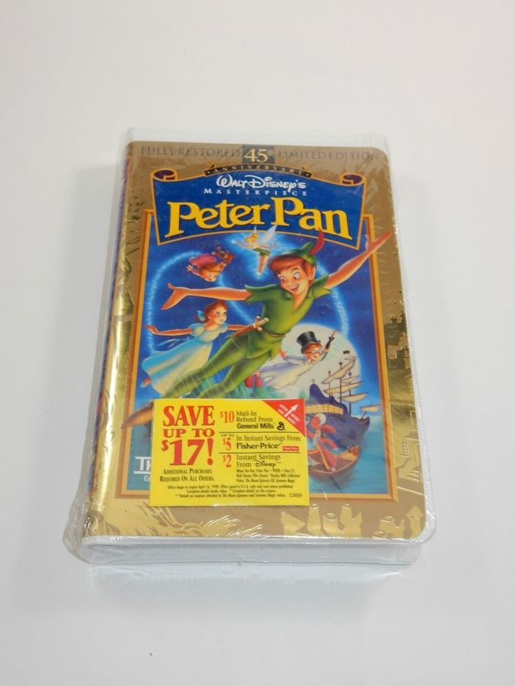 Walt Disney's Peter Pan (VHS, 1998, 45th Anniversary Limited Edition) SEALED