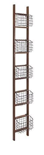 Prime Décor Collection Carlow Wood Ladder Shelf 84 inch h x 10 inch w x 6 inch