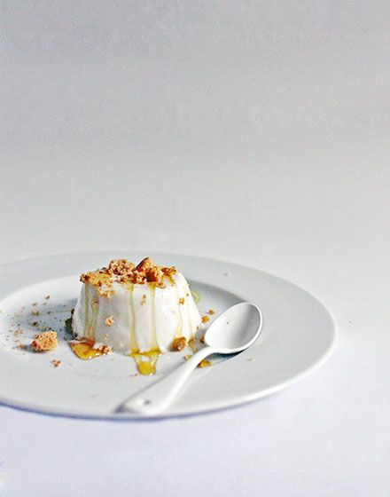 Yoghurt pannacotta  by Elizabeth Hewson from moving out...eating in - a cook book (and blog) for home leavers. www.movingouteatingin.com