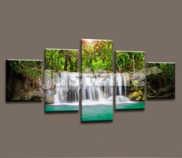 Home Decor Canvas 5 Pieces Landscape Painting Wall Art Picture Living Room  #Unbranded #Modernism