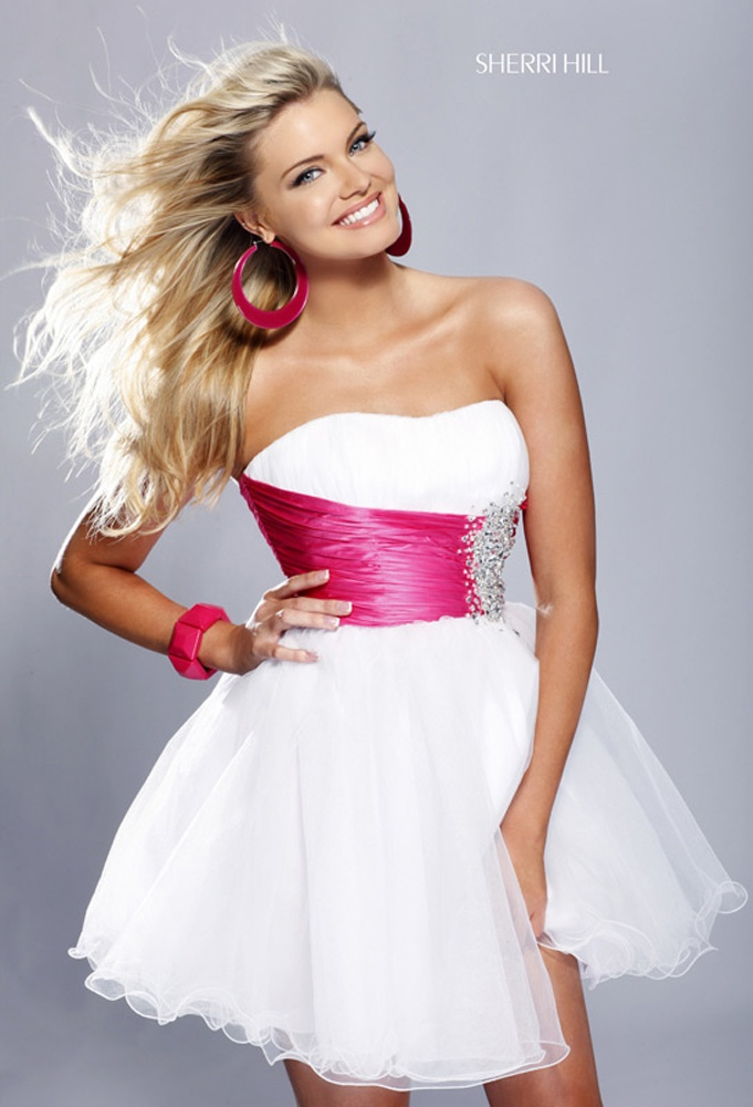 Sherri Hill 1002 is arguably her most famous dress to date! Often copied, you'll understand the meaning of Original when you slip this sexy little cocktail dress on. Available in 17 different colors, this dress is the highest selling, hottest little number on the market, brought to you by Dress Therapy! This sexy prom dress can be worn for a wide variety of occasions from a Sweet Sixteen to a graduation, prom, homecoming, or just a fun night out with the girls! A sweetheart bust leads down to...: Dresses Shops, Wedding Dressses, Prom Gowns, Homecoming Dresses, Sherri Hill, Cocktails Dresses, Ball Gowns, Shorts Prom Dresses, Shorts Dresses