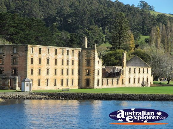 This is a view of The Penitentiary from Mason Cove in Port Arthur, Tasmania.
