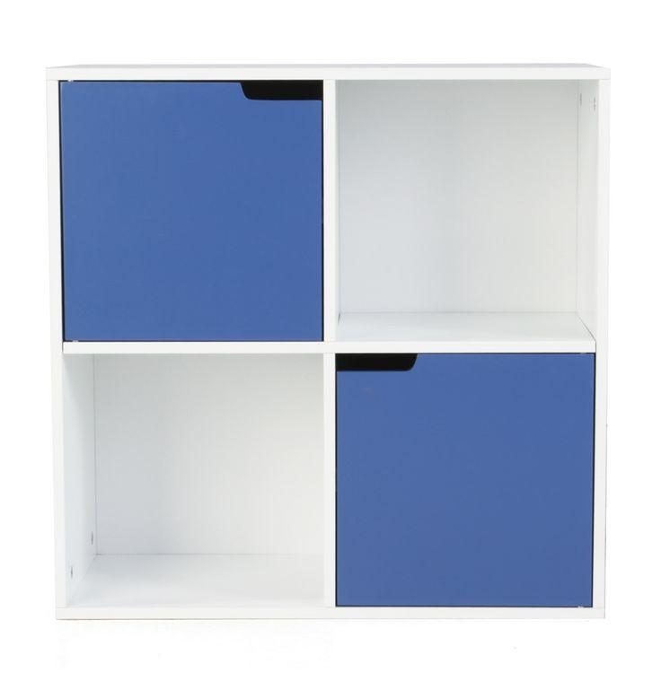 Blau Cabinet with 2 Doors and 2 Compartments - Matt Blatt