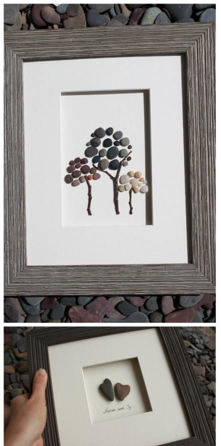 Easy decoration ideas.... with pebbles... I love trees :D And I could probably find some cute ones too!