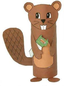 Another cute beaver craft with printable accessories to go with the toilet paper roll