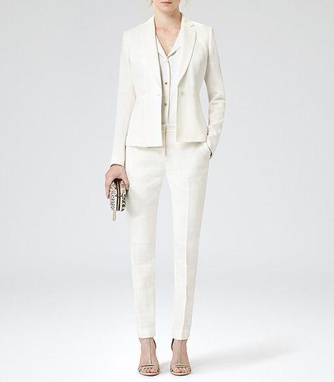 Womens Cream Tailored Jacket - Reiss Fontez