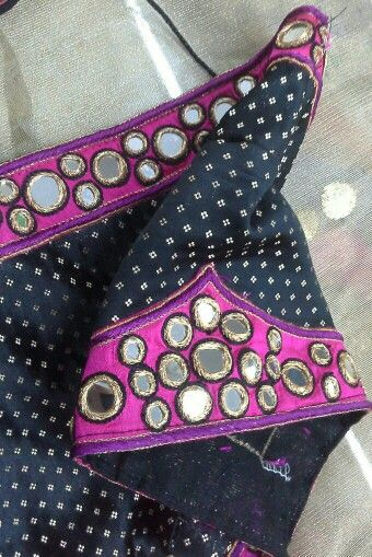 Black banaras blouse with mirror work on patch 91 9866583602 whatsapp no 7702919644