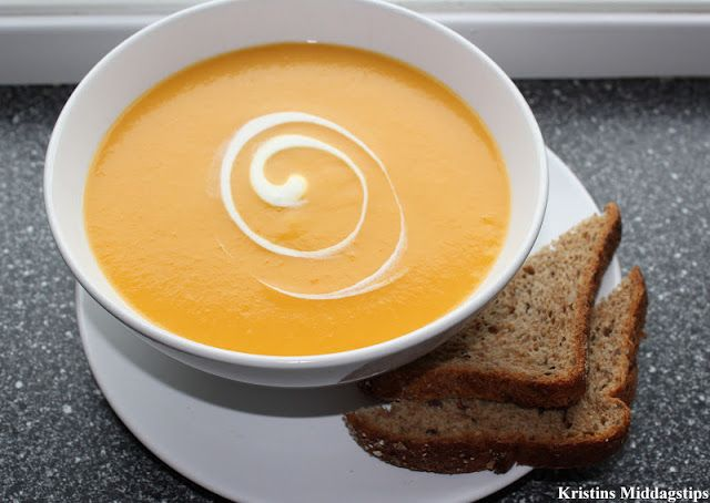 Kristins Middagstips: Gulrotsuppe med ingefær