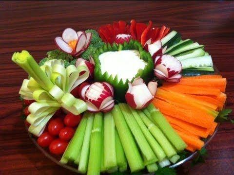 Como hacer un platon de fruta picada para una fiesta o regalo #1 - arte con fruta DIY - YouTube