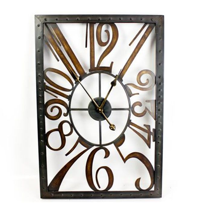1920'S STYLISH BLACK AND GOLD WALL CLOCK