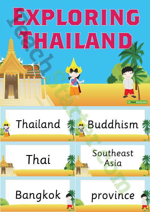 Exploring Thailand Word Wall Teaching Resource