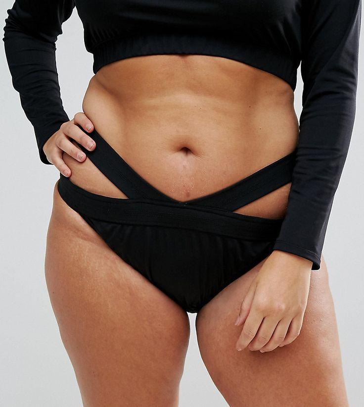 Monif C Cut Out Bikini Bottoms - Black
