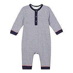 J by Jasper Conran - Baby boys' navy striped romper suit