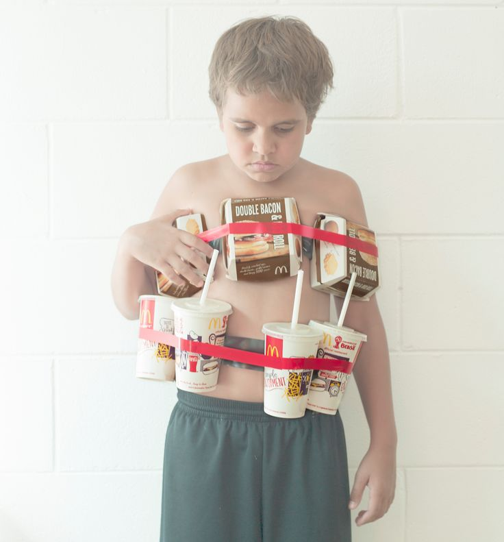 Indigenous children in fake suicide vests show fast-food threat – in pictures